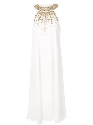 Sabrina Sleeveless Midi Jewel Neck Dress
