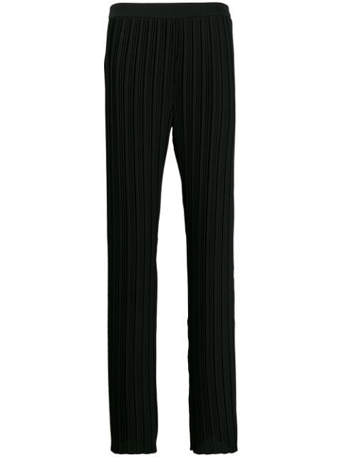Pleated Crepe Pant Item # TRVV148-PAW19