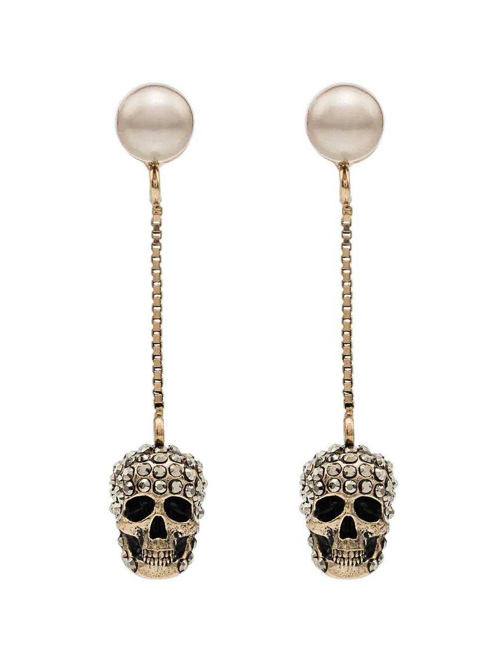 Pave Skull Earring