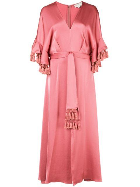 Jenny V Neck  Maxi Dress With Tassel