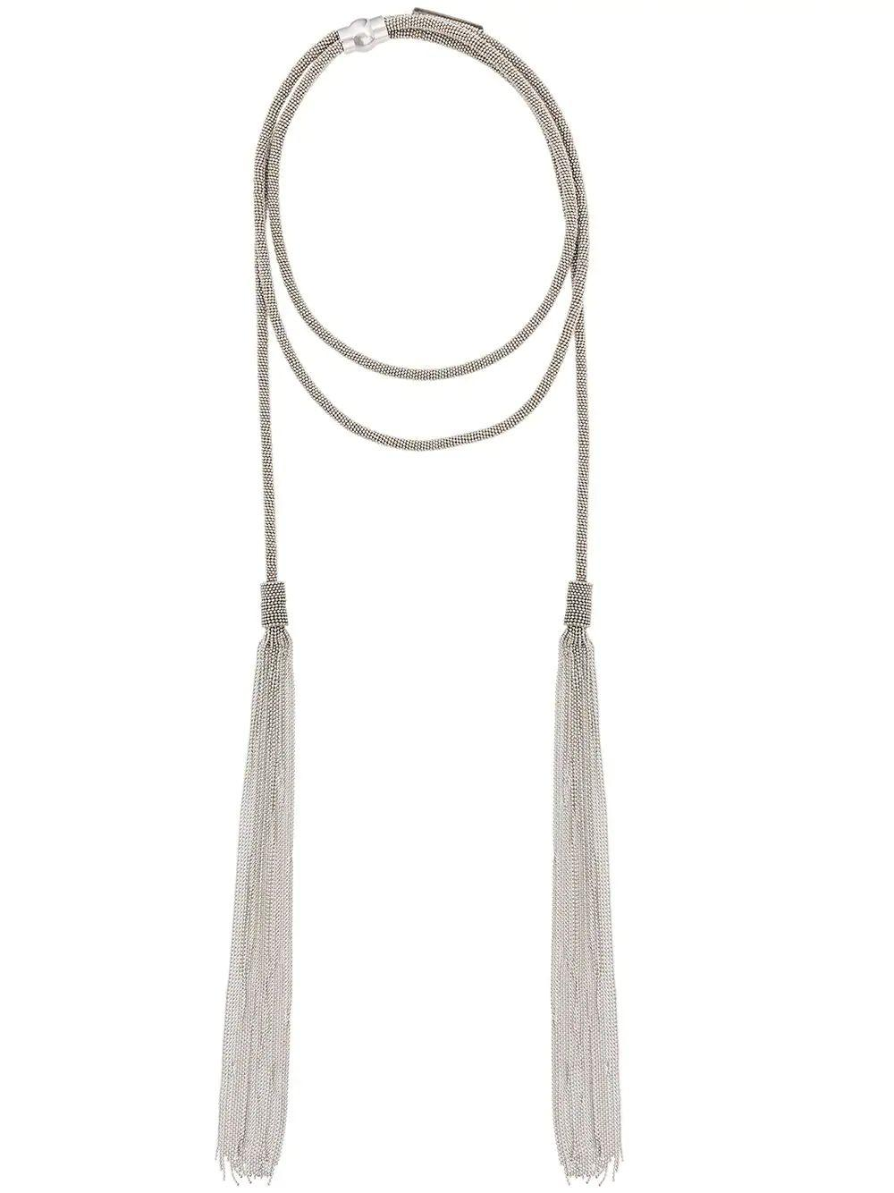 Scarf Necklace With Tassels Item # BXD119W400