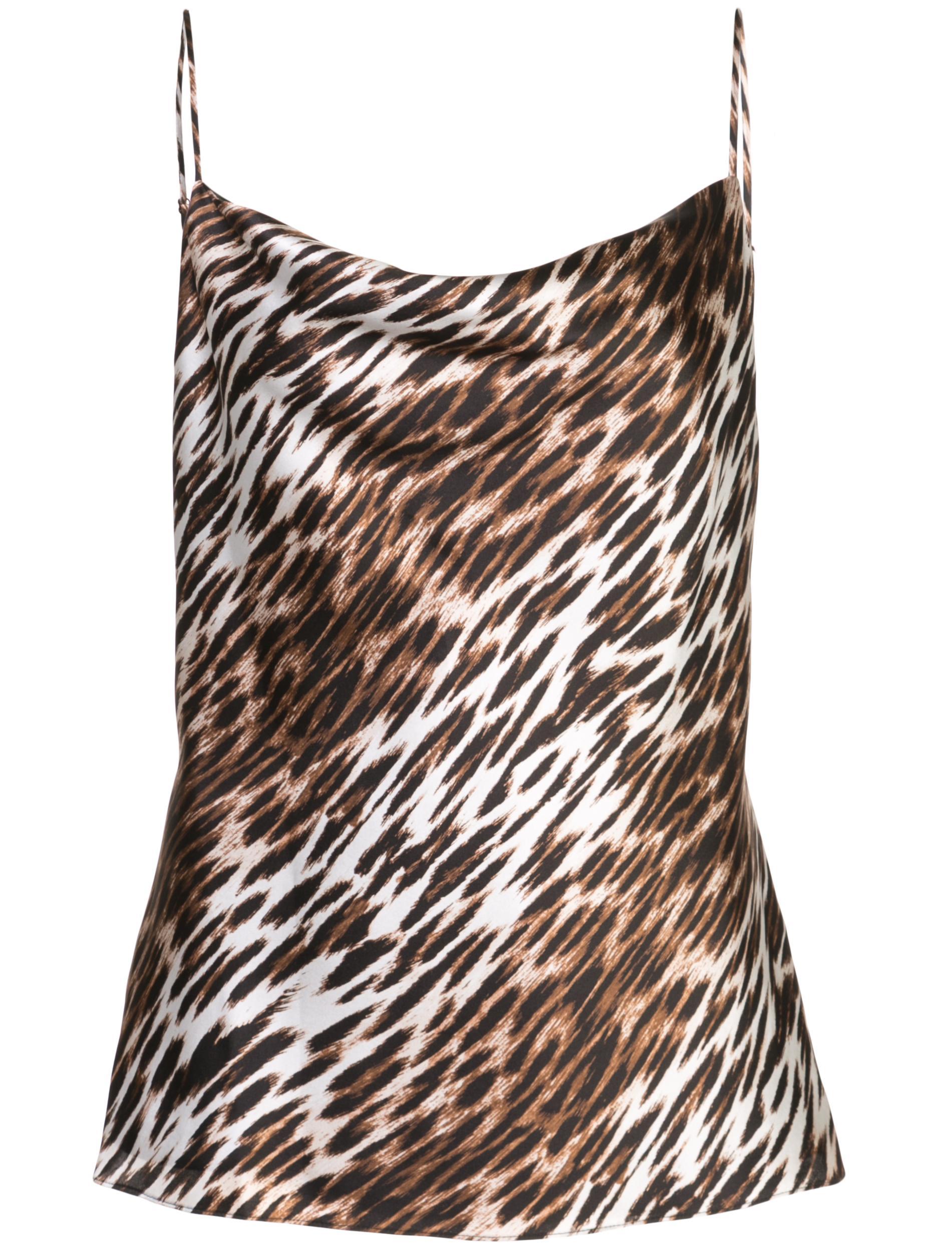 Kay Leopard Cowl Neck Tank