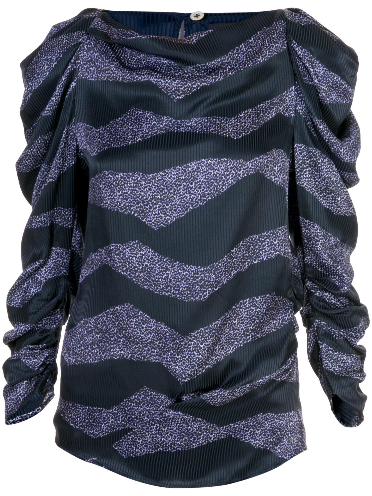 Long Sleeve New Zebra Print Blouse Item # CREM