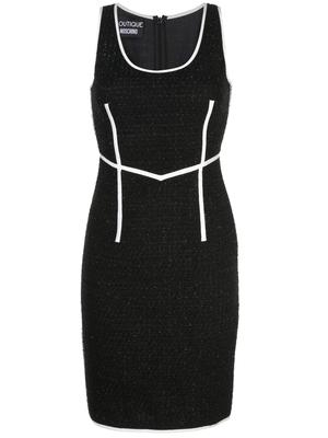Sleeveless Tweed Seamed Dress