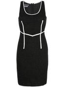 Sleeveless Tweed Seamed Dress