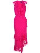 Anita Polka Dot Ruffled Midi Dress