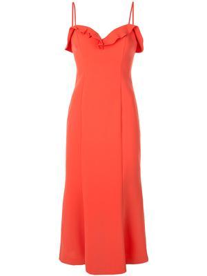 Johanna Ruffled Top Midi Dress