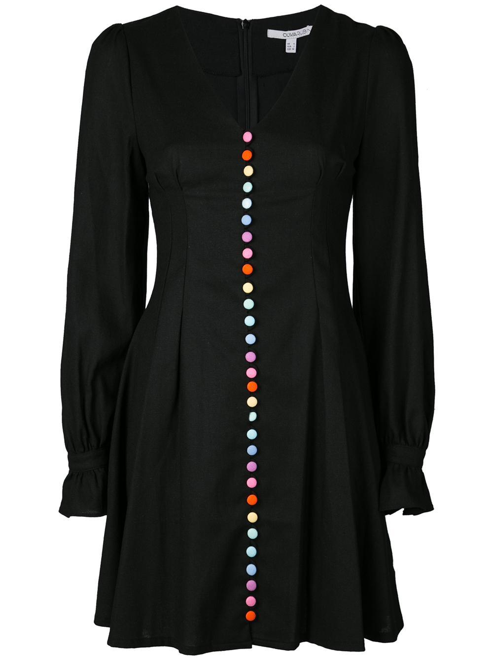 L/S Multi Button Front Plum Dress Item # OR0123