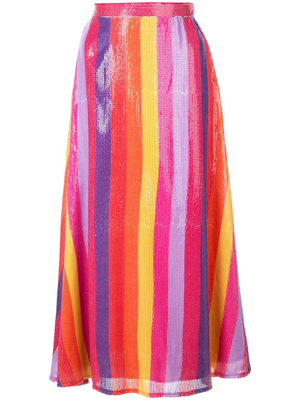 Penelope Striped Skirt Item # OR0130