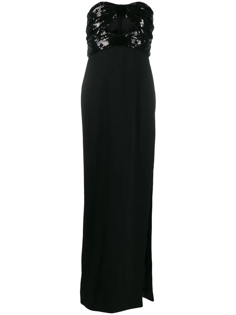 Strapless Double Bow Long Dress