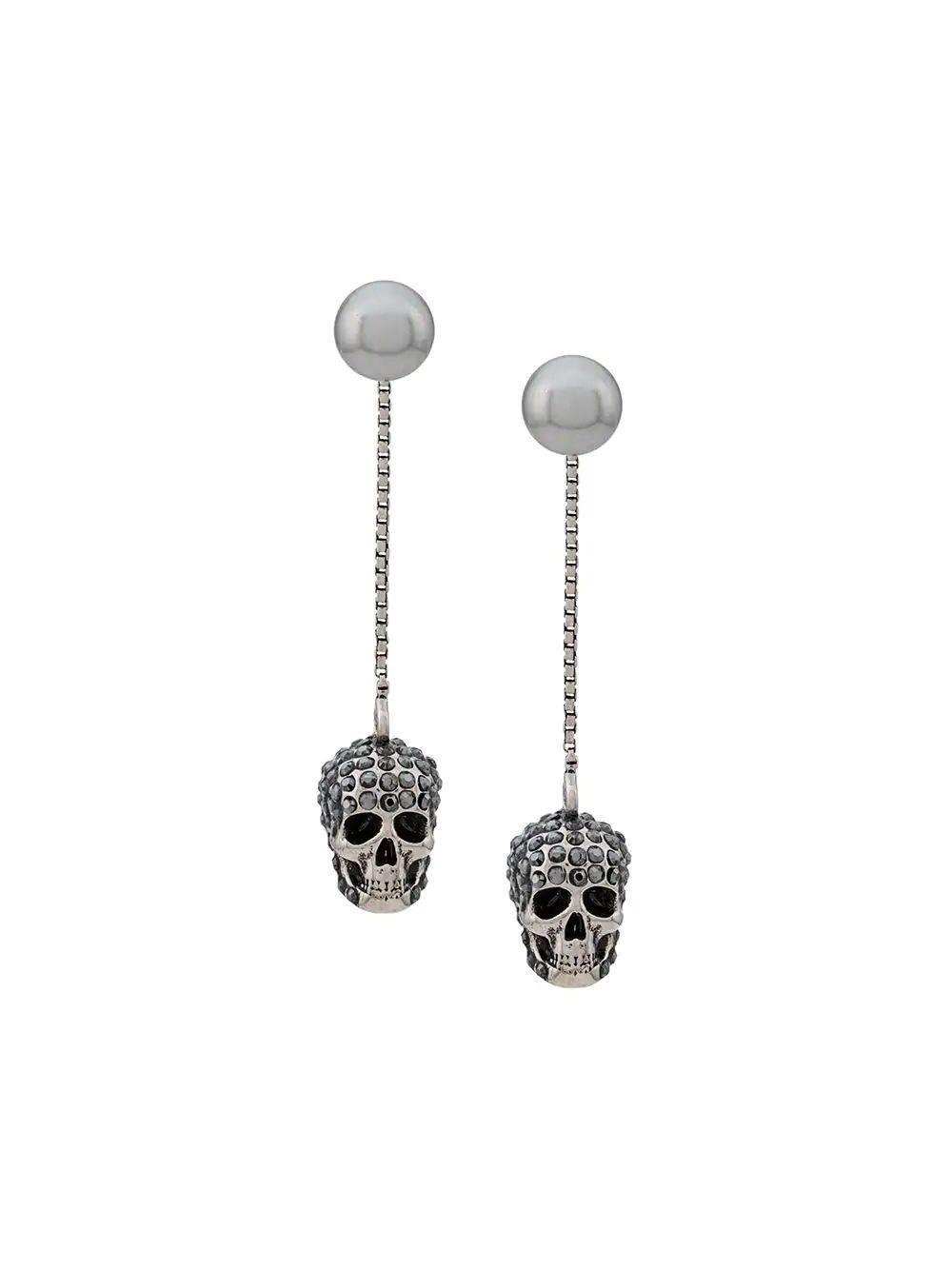 Pave Skull Earring Item # 582698-J160Y