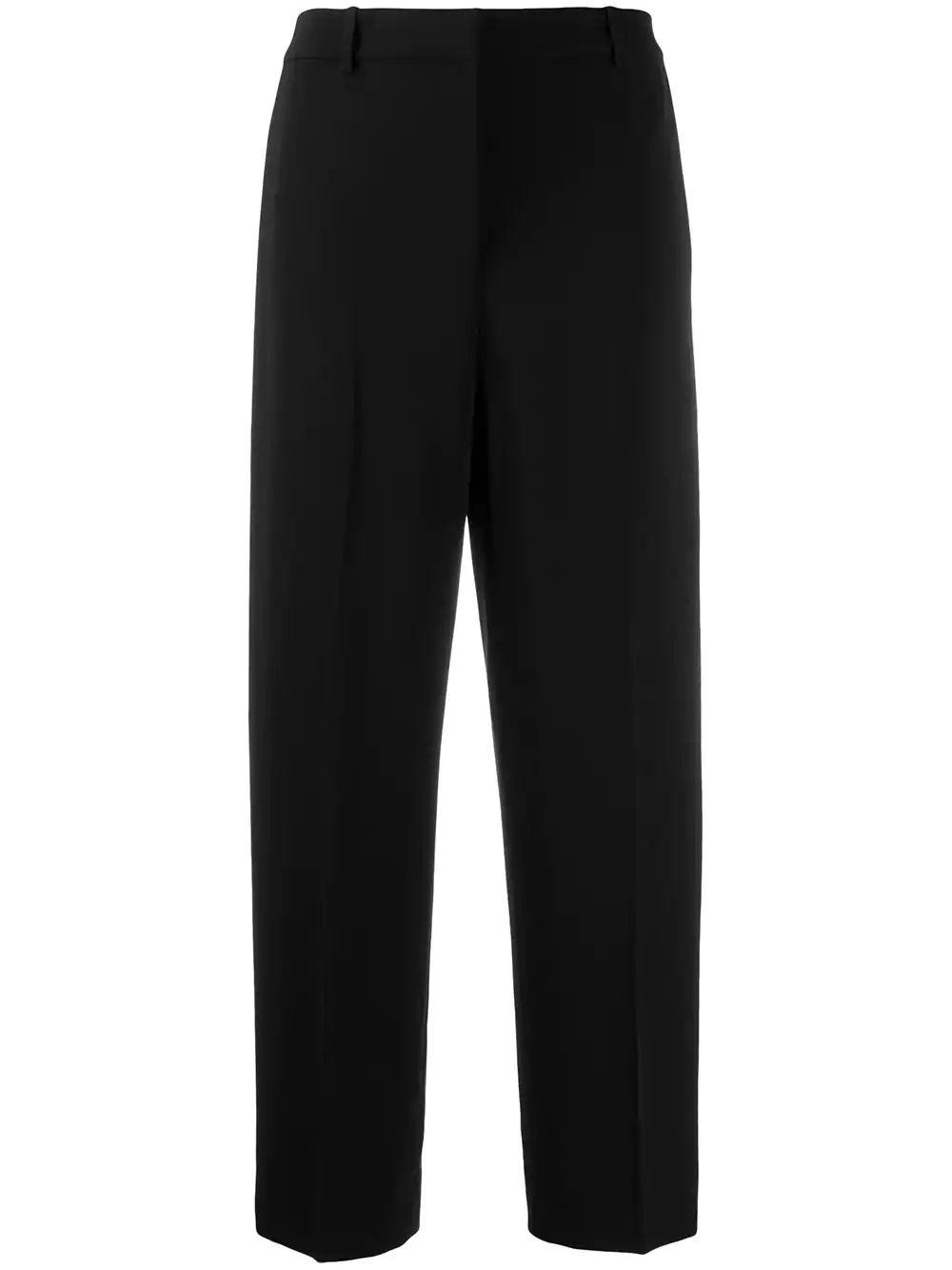 Classic Crepe High Waist Straight Trouser