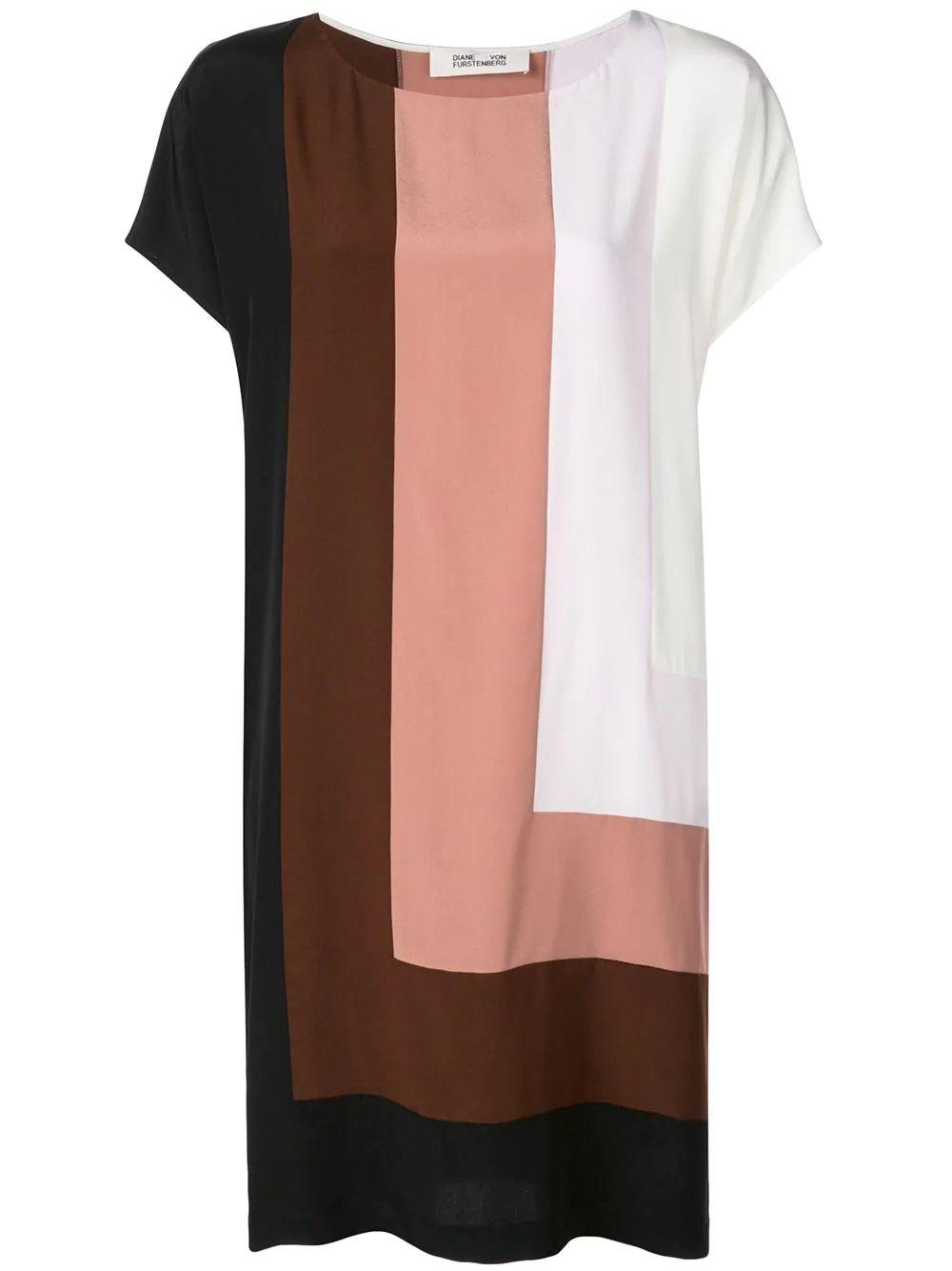 Danika Color Block Shift Dress