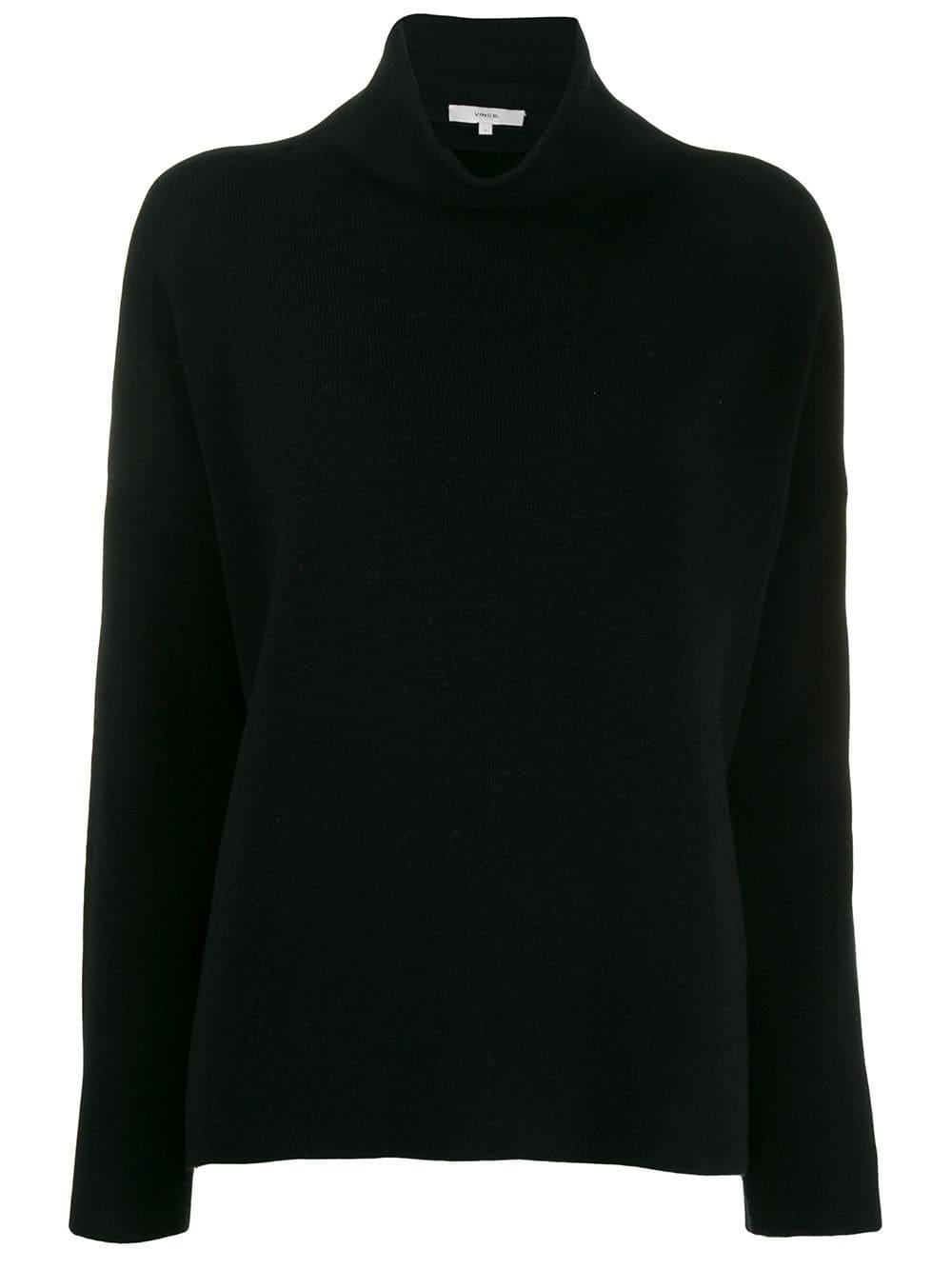 Funnel Neck Pull Over Sweater