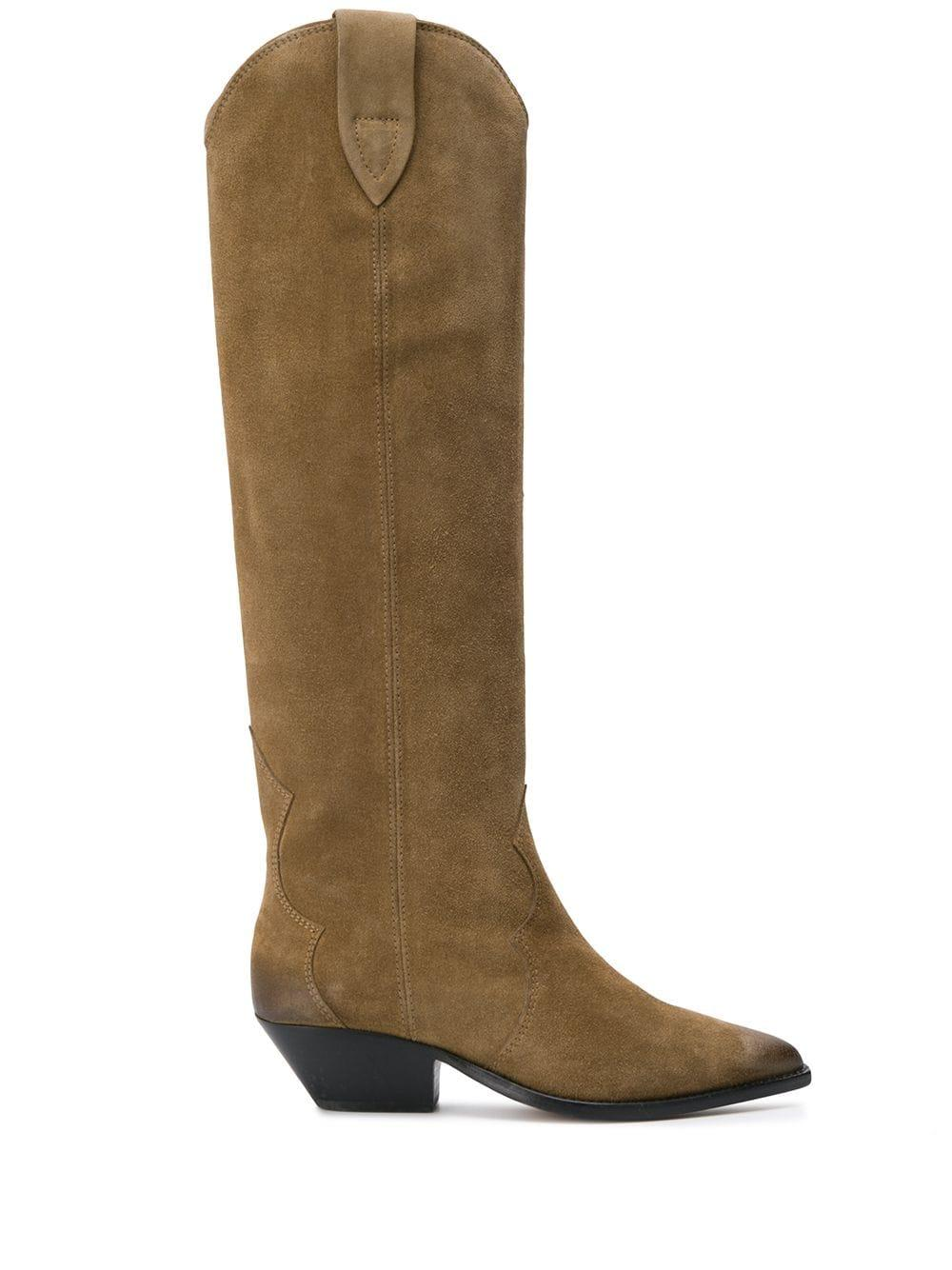 Suede Tall Cowboy Boot