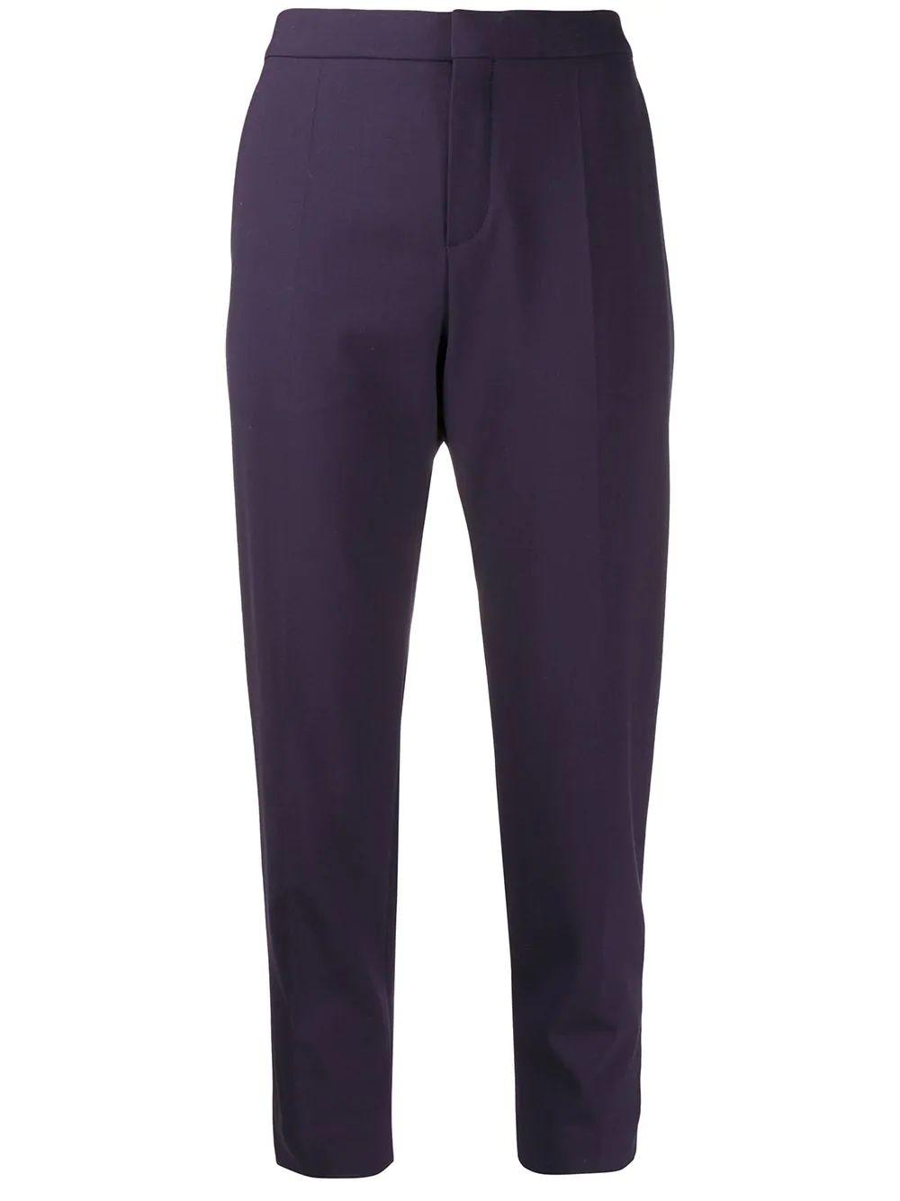 Stretch Wool Straight Trouser