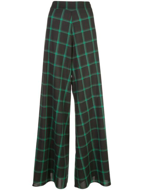 Athena Wide Leg Plaid Pant