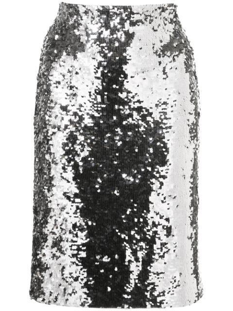 Ramos Sequin Fitted Skirt