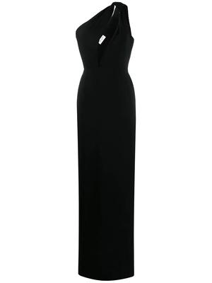 One Shoulder Gown With Cut Out