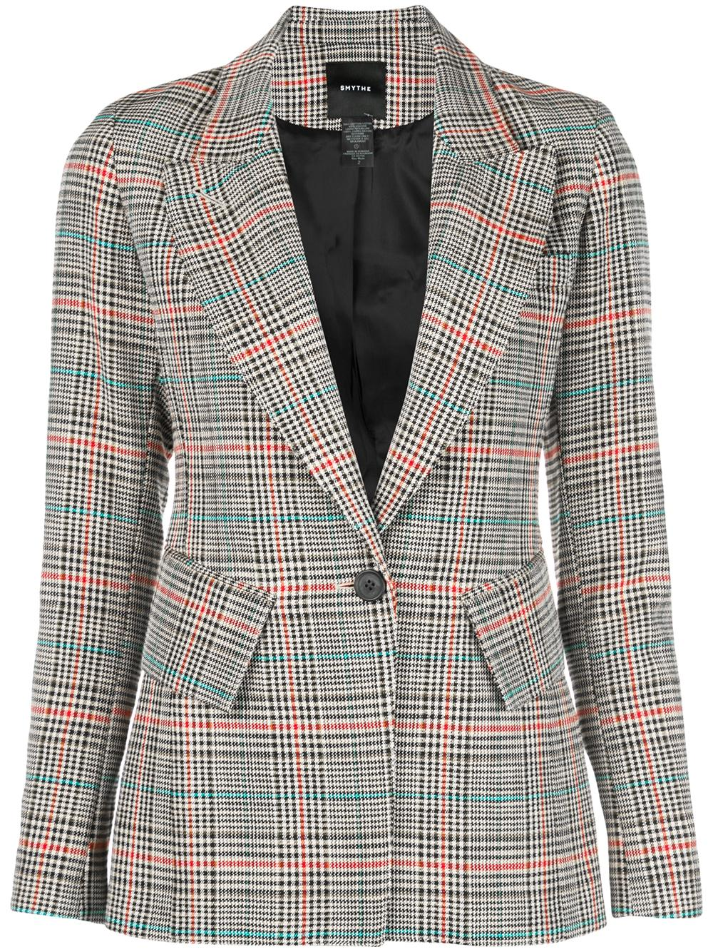 Lounge Plaid Blazer