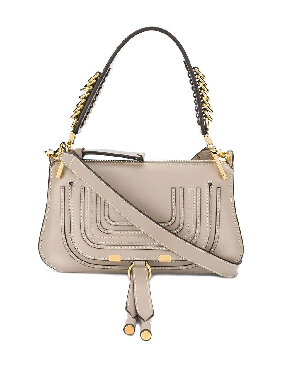 Marcie Small Leather Saddle Bag