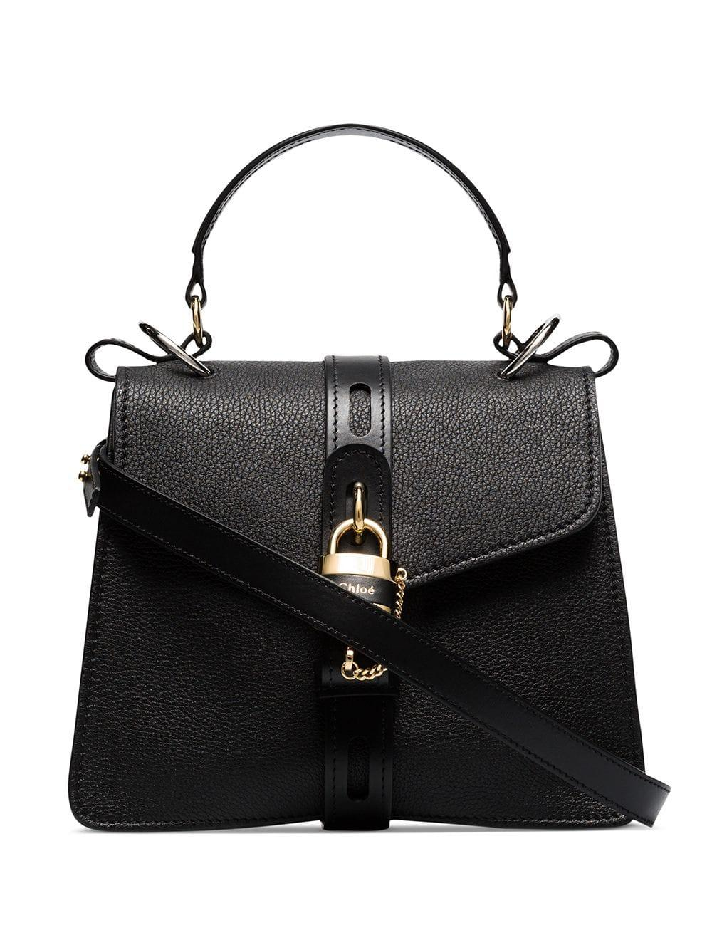 Aby Medium Grain/Shiny Leather Bag With Detail Item # CHC19AS188B57001