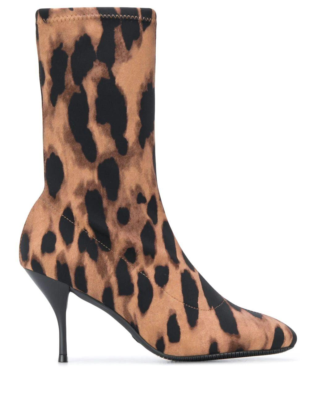 Medium Shaft 100mm Leopard Boot