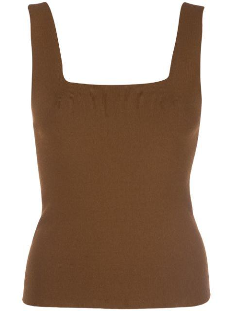 Square Neck Fitted Tank Item # V586978217