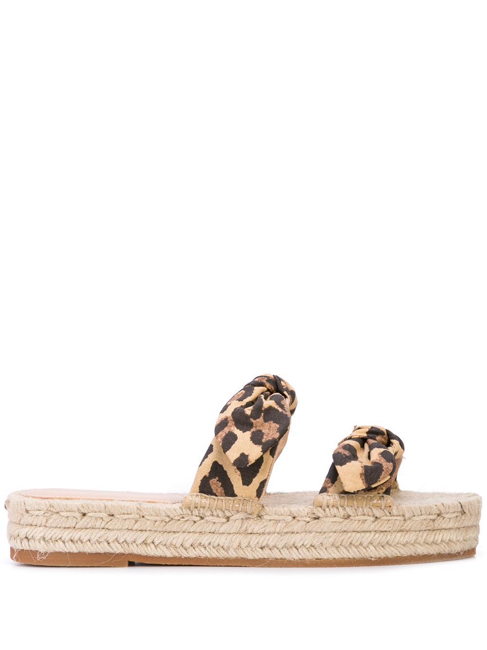 Two Bow Espadrille Platform Sandal