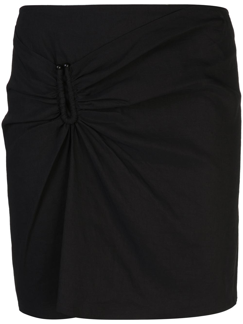 Burke Front Knot Mini Skirt Item # 3SKRT00164