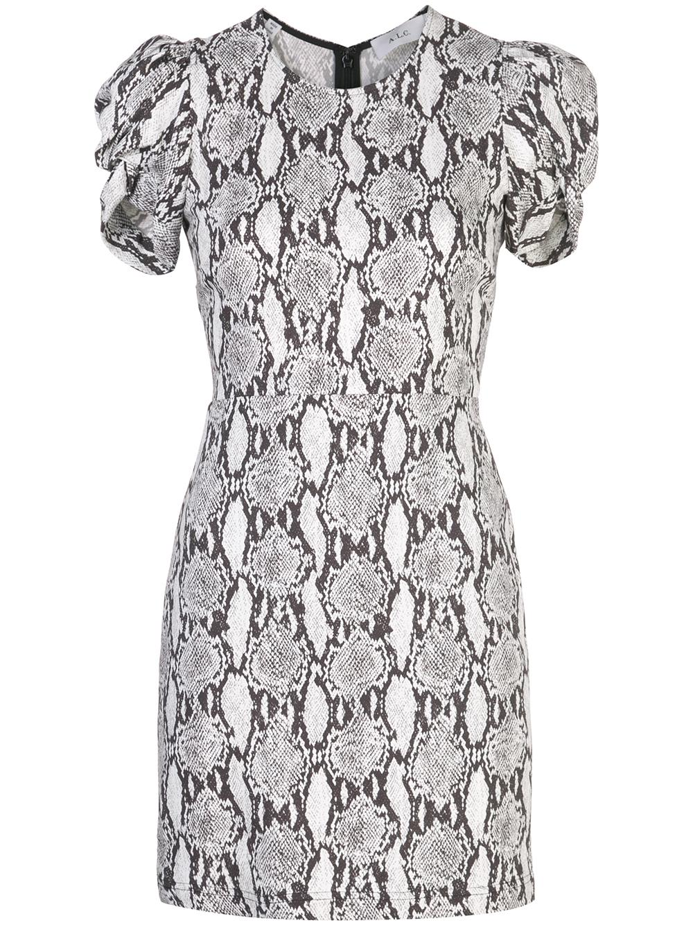Brinley Snake-Print Dress