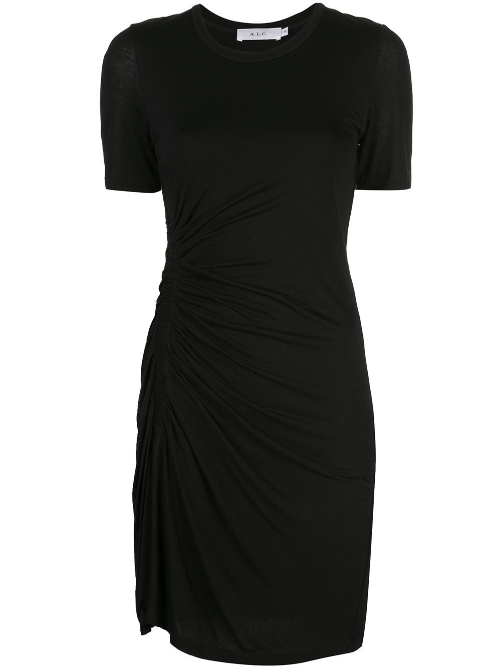 Sally Side Ruched Shirt Dress