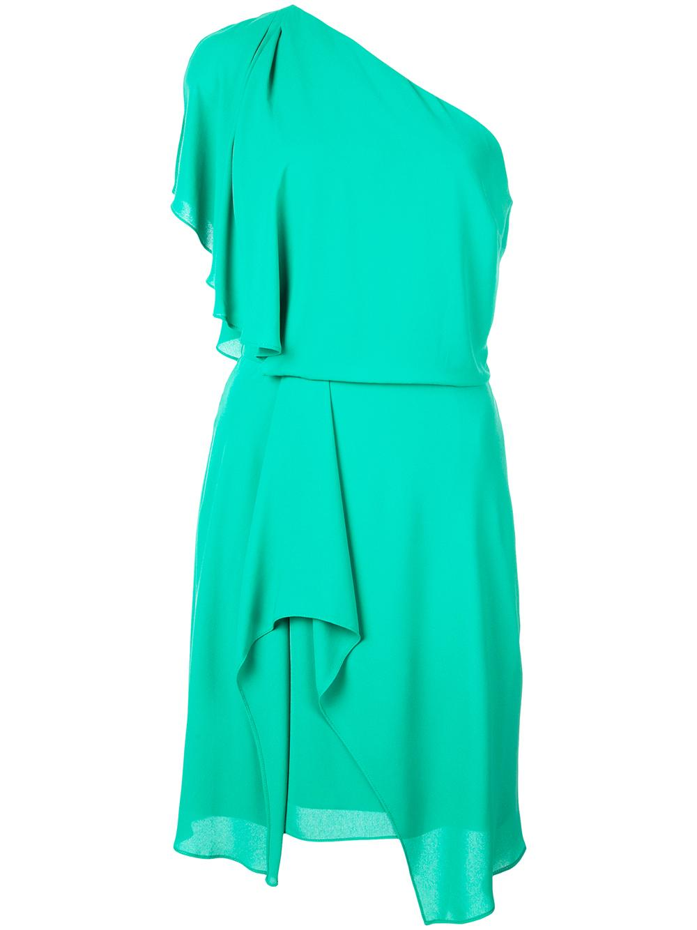 Flowy One Shoulder Dress With Draped Skirt Item # SGE152924