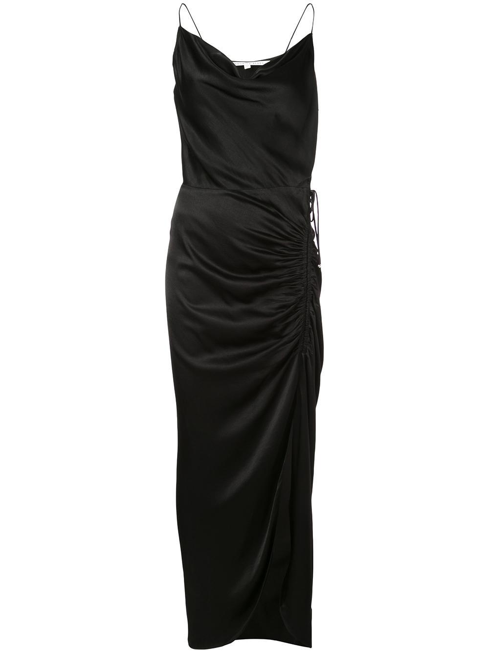 Natasha Sleeveless Satin Crepe Dress