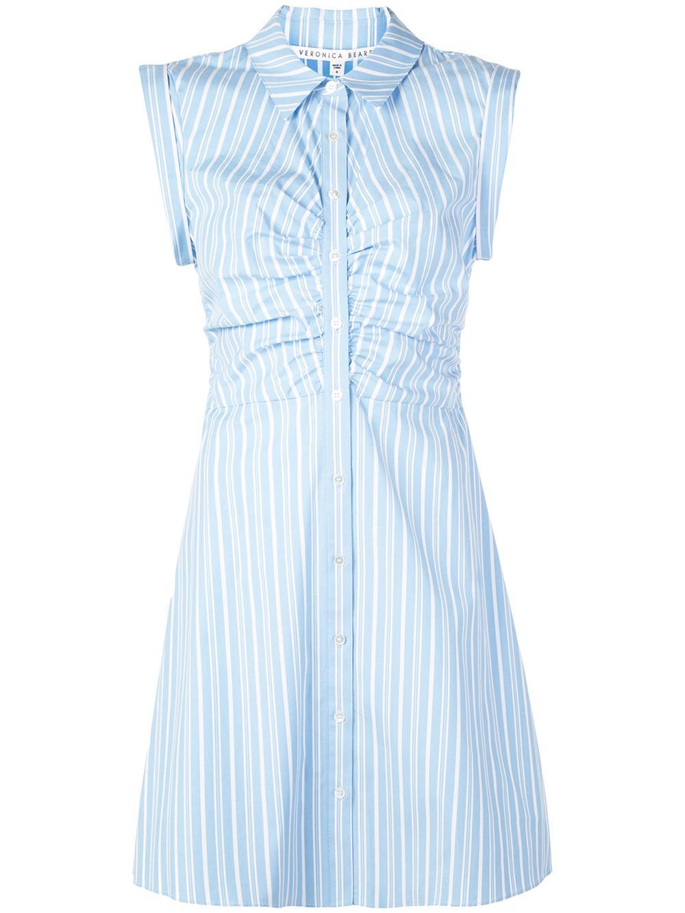 Ferris Sleeveless Striped Button Up Shirt Dress Item # 1905SH0122680