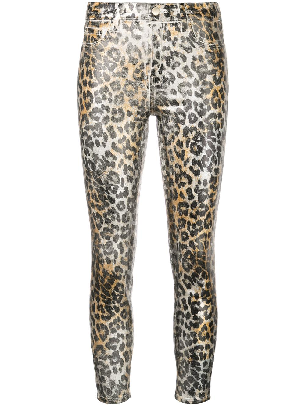 Margot Crocodile Skin Foil Print High Rise