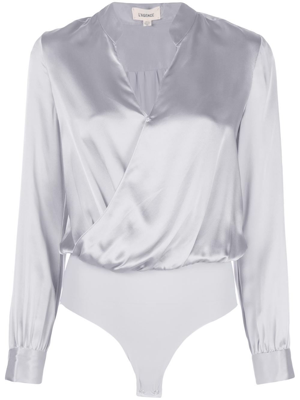 Marcella Silk Long sleeve Bodysuit