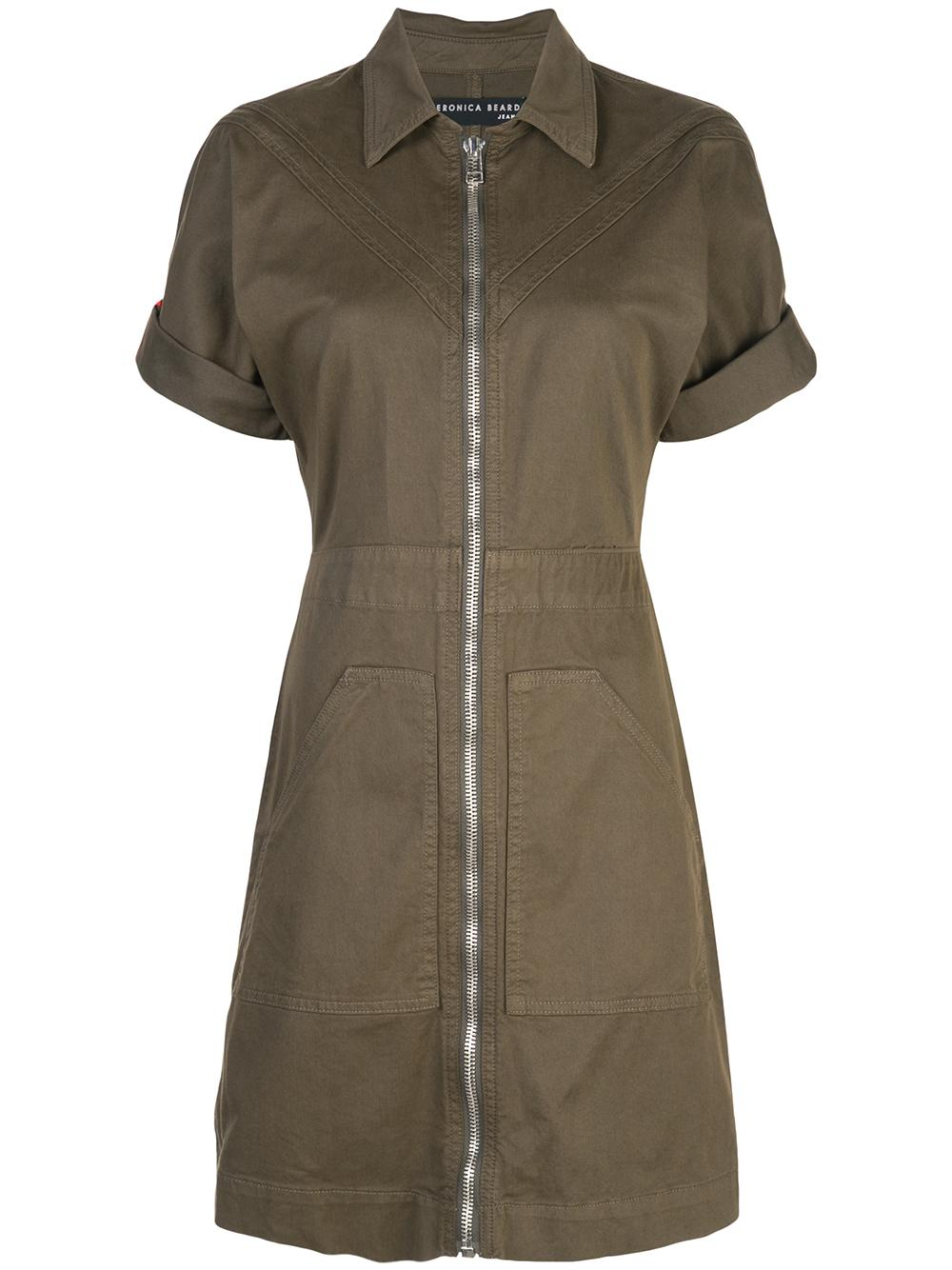 Dublin Short Sleeves Zip Up Dress