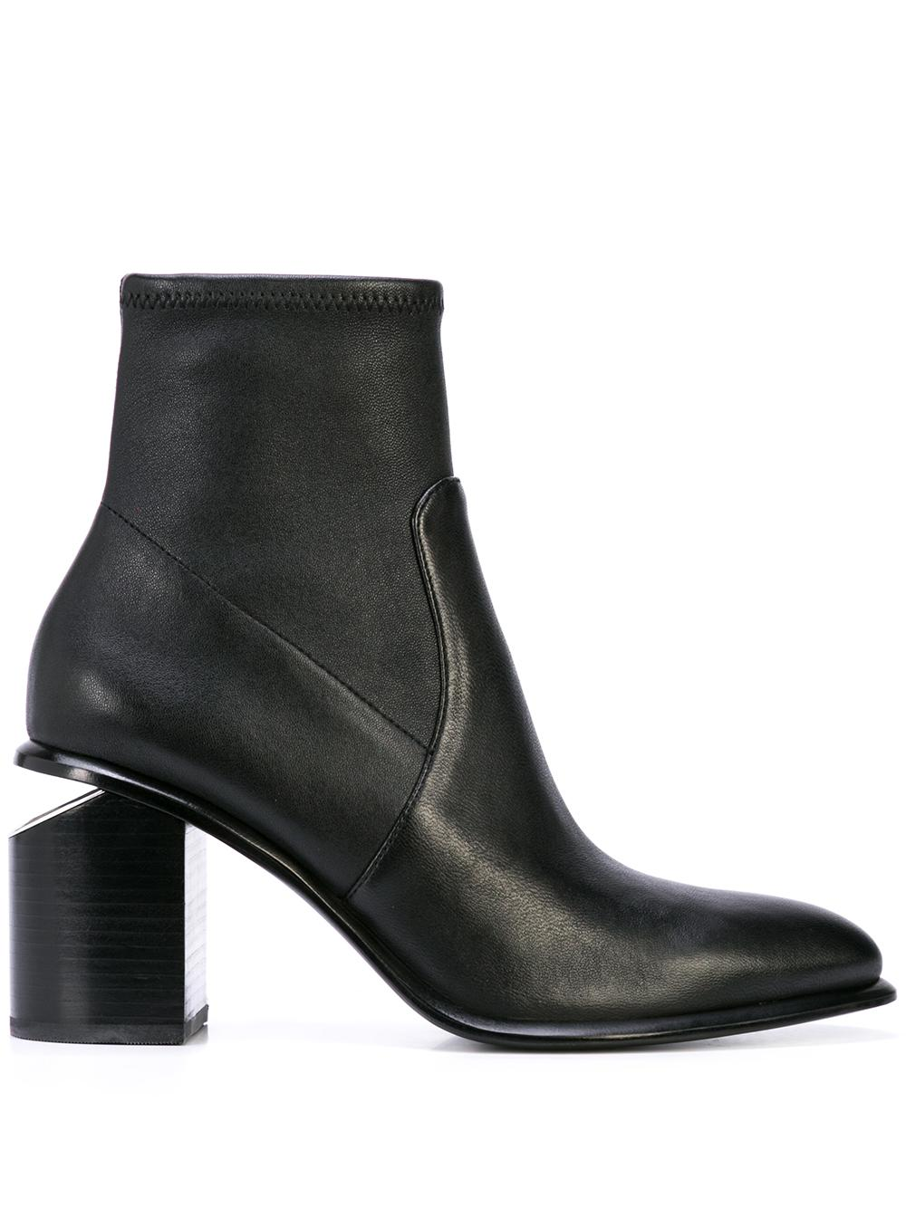 Nappa Stretch Bootie With Block Heel
