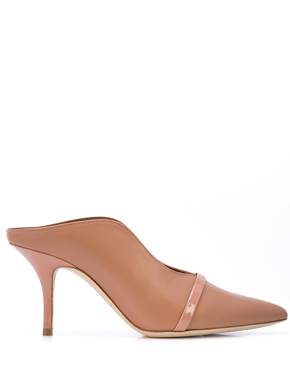 Nappa/Patent Pointed Toe 70mm Mule With One