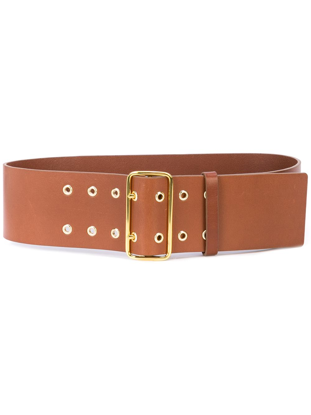 Double Grommet Wide Waist Belt