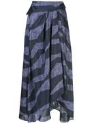 New Zebra Printed Asymmetric Skirt