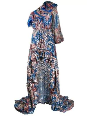 One Shoulder Fil Coupe Dress w/Hilo Skrt