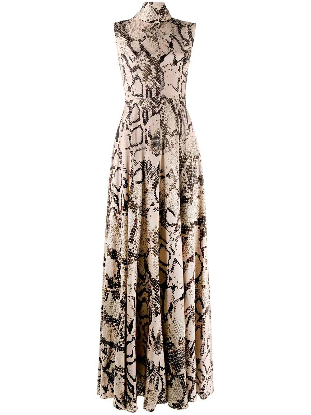Rhoda Mock Neck Maxi Dress