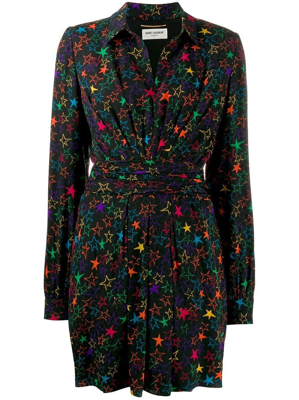 Long Sleeve Neon Star Dress