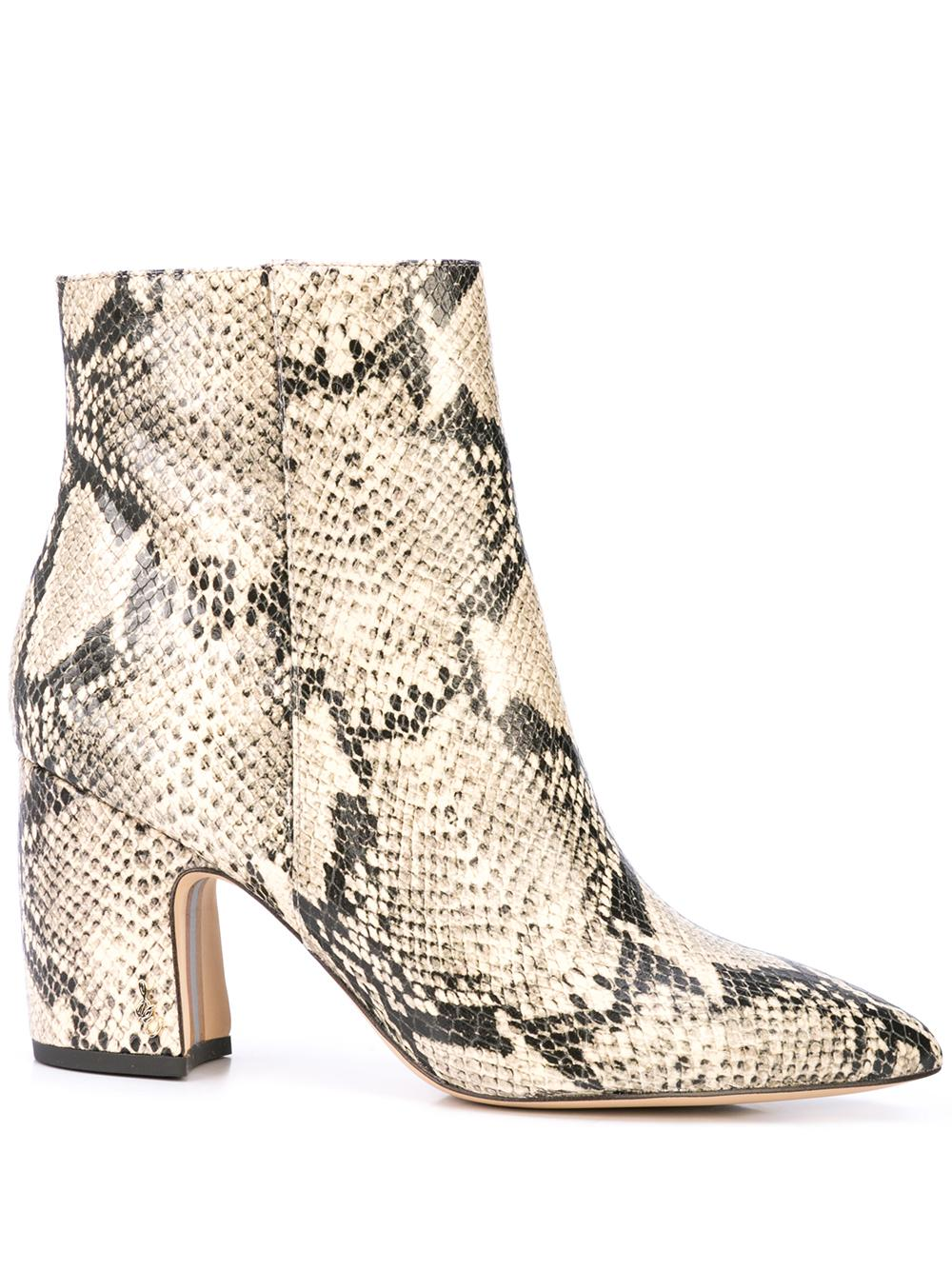 Snake Printed Pointed Toe Bootie Item # HILTY-SNAKE