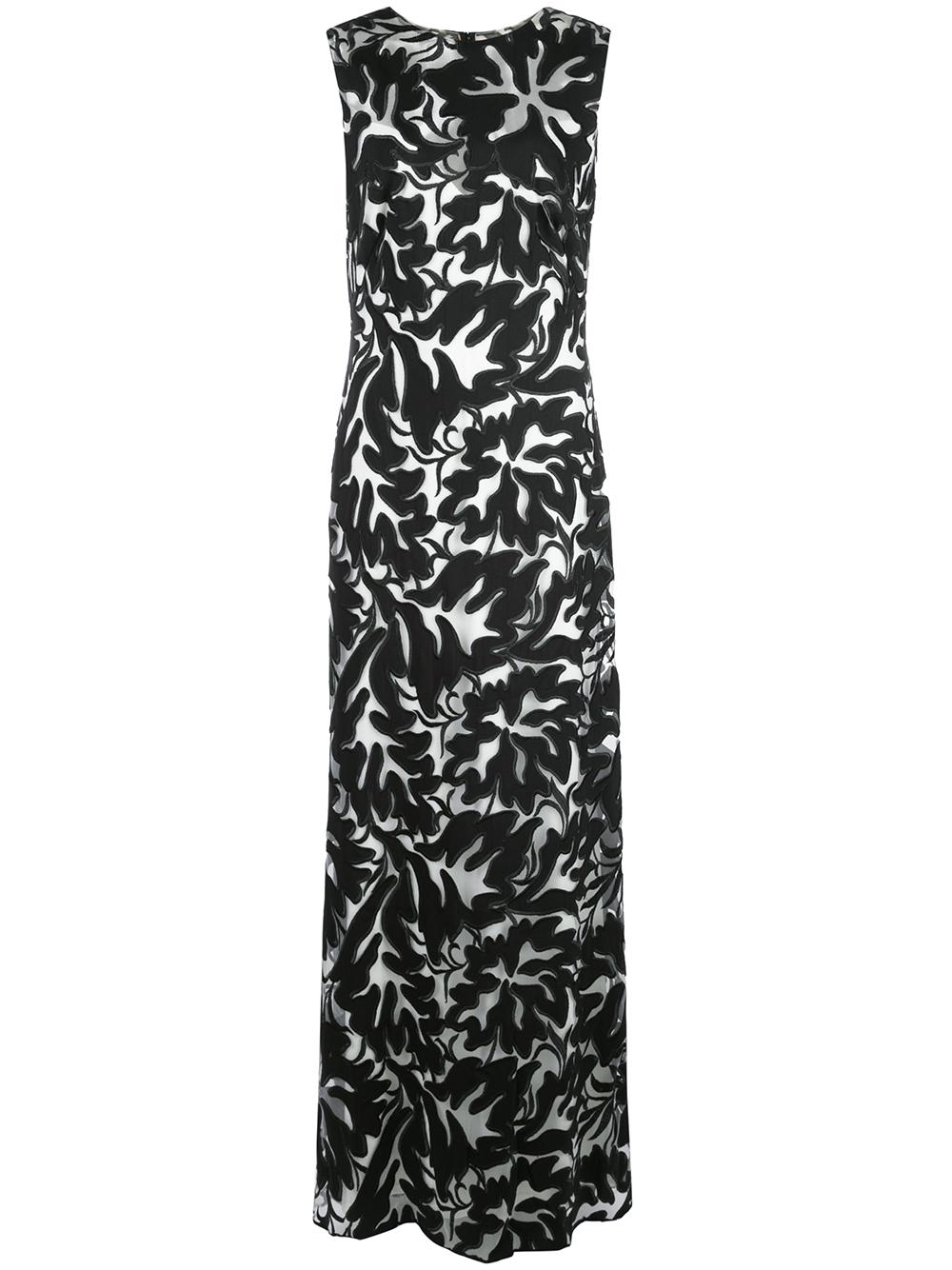 Sleeveless Floral Gown Item # BLK17390L