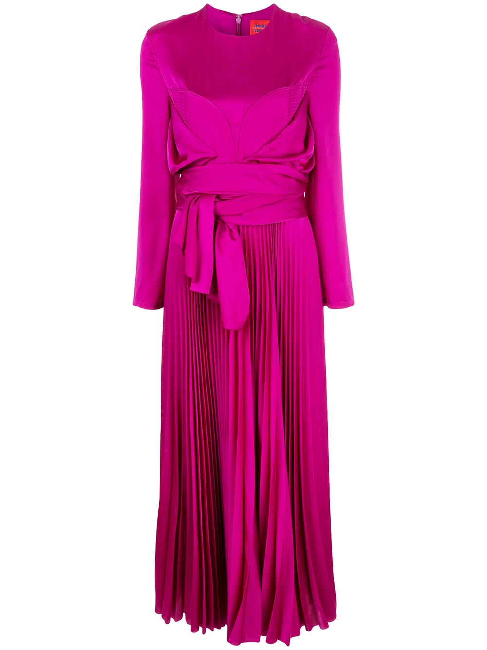 Tibby Maxi Long Sleeve Pleated Dress