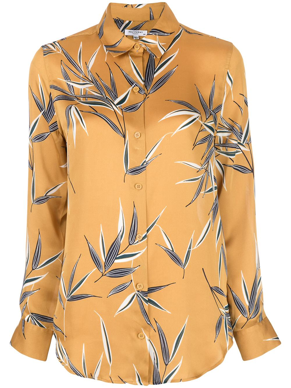 Essential Silk Leaf Print Blouse