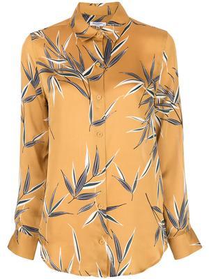 Essential Silk Leaf Print Blouse